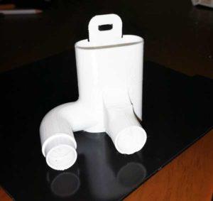 Stampaggio 3D adattatatore per respirtatori rianimazione